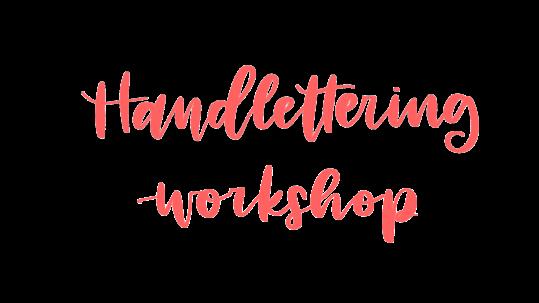 Handlettering Workshop overview